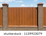 metal fence private area with... | Shutterstock . vector #1139923079