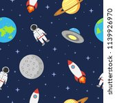 space seamless background with... | Shutterstock .eps vector #1139926970