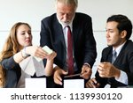 business people meeting with... | Shutterstock . vector #1139930120
