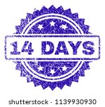 14 days stamp watermark with... | Shutterstock .eps vector #1139930930
