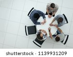 top view.manager and creative... | Shutterstock . vector #1139931209
