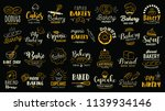 bakery logotypes set. bakery... | Shutterstock .eps vector #1139934146