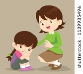 sad children wants to embrace... | Shutterstock .eps vector #1139935496