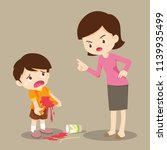little boy are stained at the...   Shutterstock .eps vector #1139935499