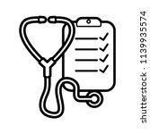 stethoscope line art icon...   Shutterstock .eps vector #1139935574