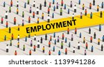 employment concept. crowd of... | Shutterstock .eps vector #1139941286