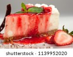 strawberry cheesecake dessert | Shutterstock . vector #1139952020