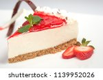 strawberry cheesecake dessert | Shutterstock . vector #1139952026
