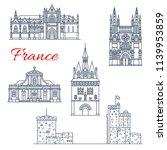 france architecture landmarks... | Shutterstock .eps vector #1139953859