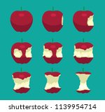 apple eating sequence vector...   Shutterstock .eps vector #1139954714