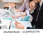 business man supervising and... | Shutterstock . vector #1139955779