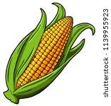 vector cartoon golden corn | Shutterstock .eps vector #1139955923