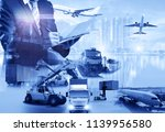 global business of container... | Shutterstock . vector #1139956580