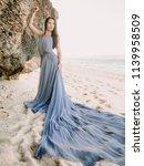bride posing in wedding dress... | Shutterstock . vector #1139958509