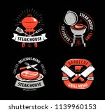bbq  grill  barbecue  logo or... | Shutterstock .eps vector #1139960153