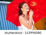 Beautiful Woman Laughing With...