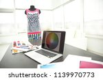 laptop and tissue samples on...   Shutterstock . vector #1139970773