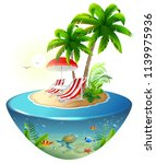 secluded vacation on tropical... | Shutterstock .eps vector #1139975936