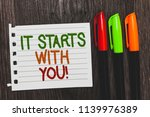 handwriting text it starts with ... | Shutterstock . vector #1139976389