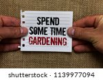 text sign showing spend some... | Shutterstock . vector #1139977094
