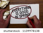 text sign showing everything is ... | Shutterstock . vector #1139978138