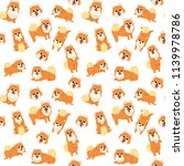 pomeranian pattern dog poses... | Shutterstock .eps vector #1139978786