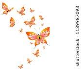 beautiful yellow butterflies ... | Shutterstock .eps vector #1139987093