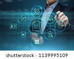 document management data system ... | Shutterstock . vector #1139995109