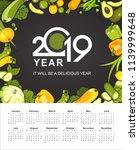 wall or table vertical calendar ...   Shutterstock .eps vector #1139999648