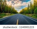 cascade lakes highway in... | Shutterstock . vector #1140001223