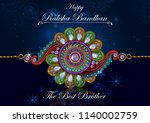 elegant rakhi for brother and... | Shutterstock .eps vector #1140002759