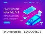 fingerprint payment vector... | Shutterstock .eps vector #1140004673