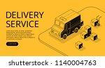 delivery service vector... | Shutterstock .eps vector #1140004763