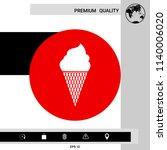 ice cream symbol icon   Shutterstock .eps vector #1140006020