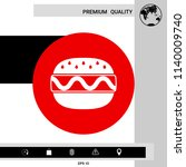 hamburger or cheeseburger icon   Shutterstock .eps vector #1140009740