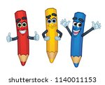 3 cartoon character color... | Shutterstock .eps vector #1140011153