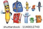 cartoon character school... | Shutterstock .eps vector #1140012743