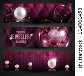 jewellery banners set with...   Shutterstock .eps vector #114001453