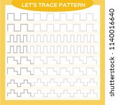 tracing lines activity for... | Shutterstock .eps vector #1140016640