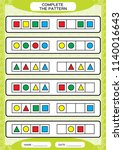 complete simple repeating... | Shutterstock .eps vector #1140016643