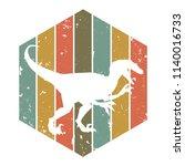 velozeraptor design. vector... | Shutterstock .eps vector #1140016733