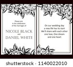 vintage delicate greeting... | Shutterstock . vector #1140022010