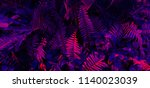tropical leaf forest glow in... | Shutterstock . vector #1140023039