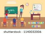elementary school grammar... | Shutterstock .eps vector #1140032006