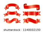 glossy silk or satin decorative ... | Shutterstock .eps vector #1140032150
