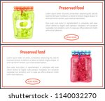 preserved food banners  olive... | Shutterstock .eps vector #1140032270