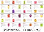 preserved food in jars web... | Shutterstock .eps vector #1140032750