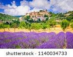 simiane la rotonde  hilltop... | Shutterstock . vector #1140034733