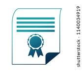 parchment diploma graduation... | Shutterstock .eps vector #1140034919
