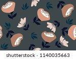 pattern of spring flowers | Shutterstock .eps vector #1140035663